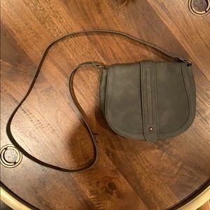 EXPRESS Grey Leather-Look Crossbody Bag